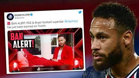 PSG:n brasilialaislähti Neymar hyllytettiin Twitch-palvelusta.