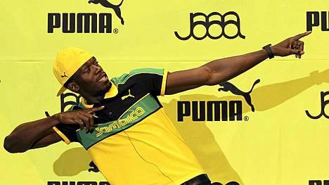 PIkajuoksija Usain Bolt on kisojen suurimpia tähtiä. Hän kisaa 100 metrillä heti ensimmäisenä viikonloppuna.