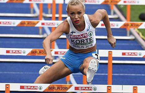 Annimari Korte aitoi Berliinin EM-kisoissa.