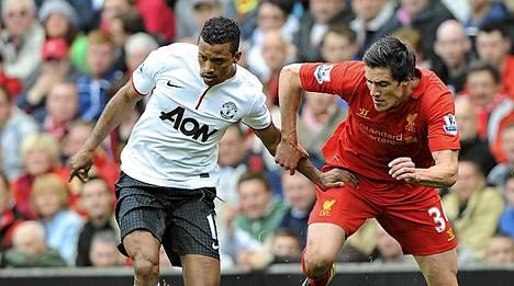 Nani (vas.) pelasi vaisusti viime viikonloppuna Liverpoolia vastaan.