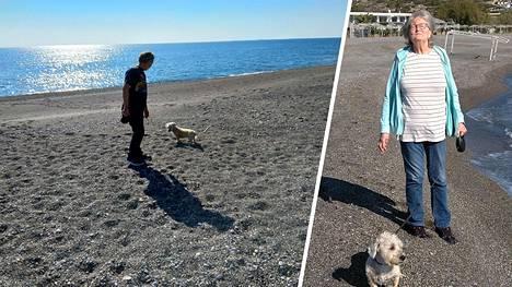 Kirsti ja Jorma Rissanen elävät matkailuautossa. Autossa asuu myös pariskunnan koira.