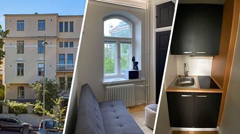 Helsingin Eirassa myydään 14,5 neliön pikkukotia. Uunia lukuun ottamatta kodissa on kaikki tarpeellinen.