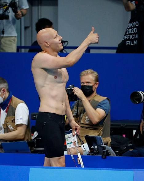Matti Mattsson oli keskiviikon suomalaisnimi. Porilainen ui varhain torstaina olympiamitalista 200 metrin rintauinnissa.