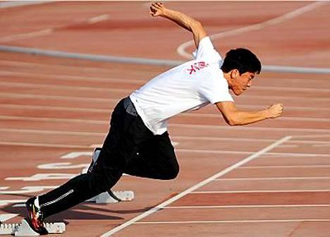 Liu Xiang tekee paluuta pitkän kilpailutauon jälkeen.