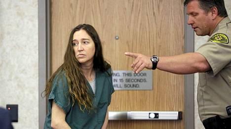 Megan Huntsman oikeudessa Utahissa huhtikuussa.