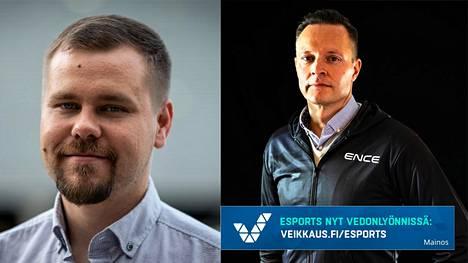 Petri Hämälä (vasen) siirtyy ENCEn toimitusjohtajan paikalta. Mika Kuusisto aloittaa työt toimitusjohtajana 1. joulukuuta.