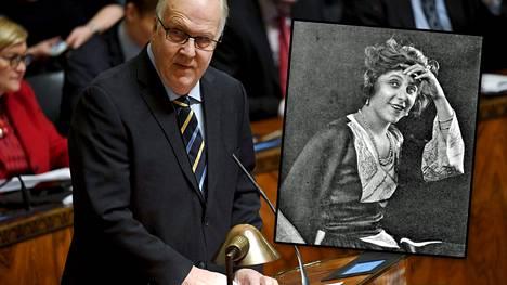 Olavi Ala-Nissilä aloitti budjetin käsittelyn siteeraamalla 1977 kuollutta ranskalaistähti Yvonne Printempsiä.