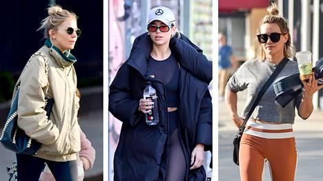 Muun muassa Sienna Millerin, Dua Lipan ja Hilary Duffin leggingslookit kannattaa kopioida.