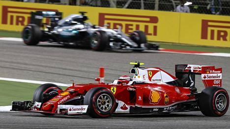 Kimi Räikkönen oli toinen Bahrainissa.