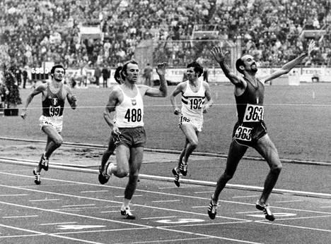Francesco Arese voitti 1500 metrin EM-kultaa Helsingissä 1971.