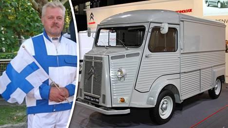 Veli-Matti Kangasluoma ja Citroënin hevoskuljetusauto joutuivat vaikeuksiin 22 vuotta sitten. Kuvan auto ei tiettävästi liity tarinaan.