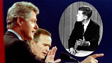 Bill Clinton, George Bush ja John F. Kennedy