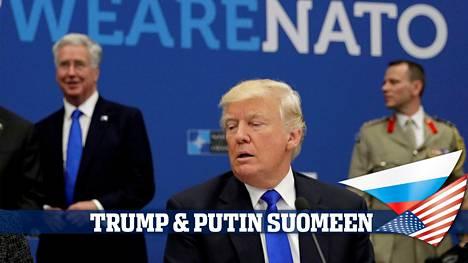 Donald Trump osallistui Naton työkokoukseen Brysselissä maaliskuussa 2017.