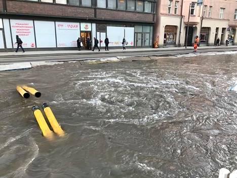 Vettä on runsaasti.