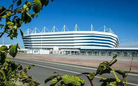 Stadionin ympäristö on MM-kisojen alla siistissä kunnossa.