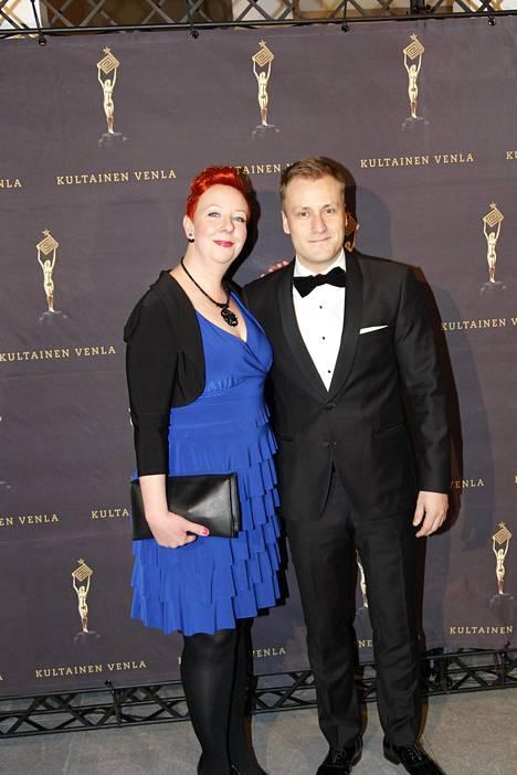 Putous-tähdet näyttelijä Jenni Kokander ja Heikki Paasonen.