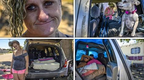 Laurane Ivey elää asuntoautossa tien varrella.