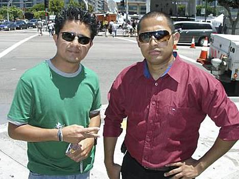 Wilbert ja Emanuel Jordan lensivät El Salvadorista Los Angelesiin Michael Jacksonin muistotilaisuuteen.