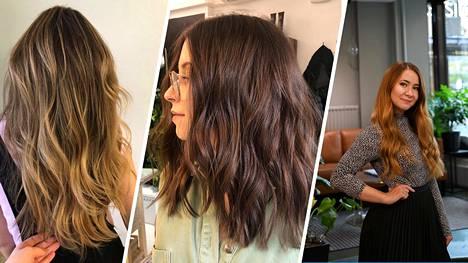 Kampaajien omissa hiuksissa avainsanoja ovat luonnollisuus ja helppohoitoisuus.