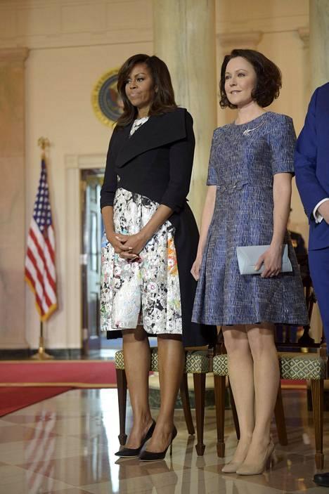 Presidenttien puolisot tapasivat toisensa toukokuussa 2016.