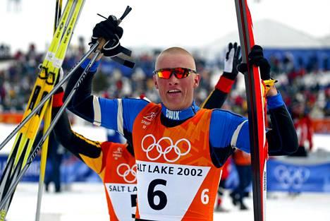 Tor Arne Hetland voitti sprintin olympiakultaa Salt Lake Cityssä 2002.