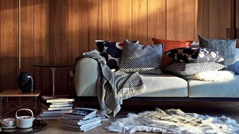Marimekon syksykodissa tekstiilit luovat lämpimän tunnelman.