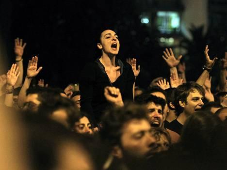 Ateenassa osoitettiin jälleen tällä viikolla mieltä.