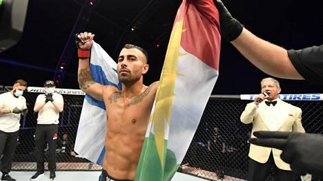Makwan Amirkhani otteli vakuuttavan voiton Abu Dhabin UFC 251 -tapahtumassa sunnuntaina.