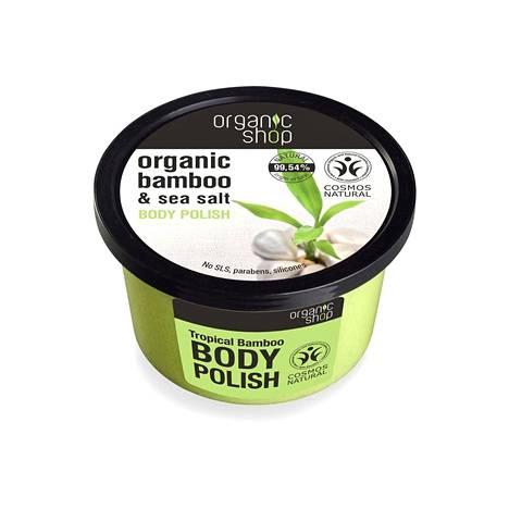 Organic Shop Organic Bamboo & Sea Salt Body Polish, 4 € / 250 ml, valikoidut tavaratalot ja kauneusverkkokaupat.