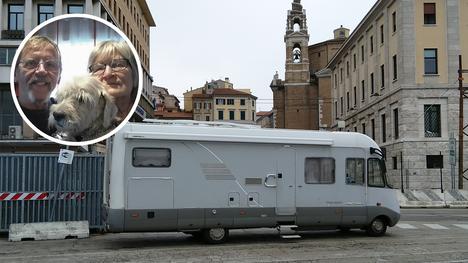 Kirsti ja Jorma Rissanen asuvat Hymer-matkailuautossa. Tällä hetkellä he viettävät aikaa Kreetalla, kevään tullen he tulevat Suomeen.