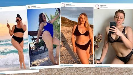 """Kumpujen, selluliitin tai arpien näyttämistä ei tarvitse hävetä. Unohdetaan tunkkaiset käsitykset """"oikeanlaisesta"""" bikinikropasta ja nautitaan kesästä!"""