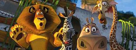Madagascar 2 -elokuva on saanut timantti-dvd:n.