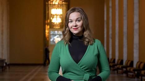 Kansanedustaja Katri Kulmuni kuvattiin eduskunnassa 8. joulukuuta 2020.