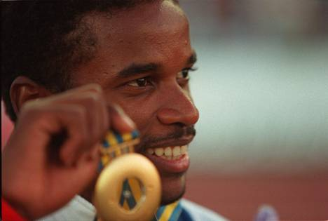 Pedroso kultamitalin kanssa Göteborgin MM-kisoissa.