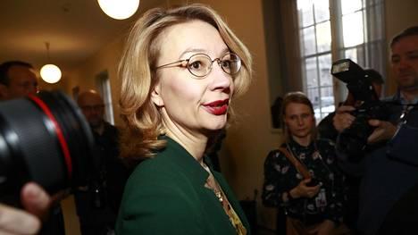Tytti Tuppurainen eduskunnassa 3. joulukuuta 2019.