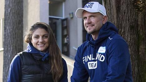 Nooralotta Neziri ja Jussi Ihamäki tekivät pitkään yhteistyötä. Kuva vuodelta 2016.