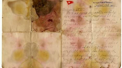 Alexander Oskar Holversonin 13.4.1912 kirjoittama kirje myytiin lauantaina Britanniassa.