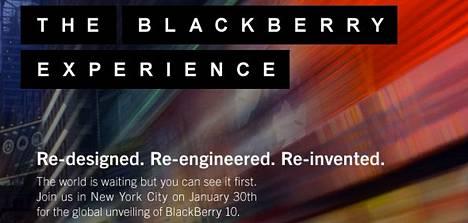 Research in Motion on kutsunut maailman kokemaan uutta Blackberry 10 -ympäristöä.