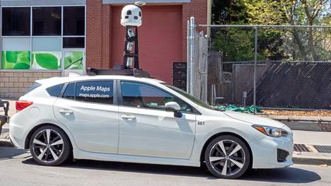 Applen kuvausauto kuvattiin New Yorkin Brooklynissa huhtikuussa.