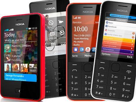 Nokia Asha -puhelimia.