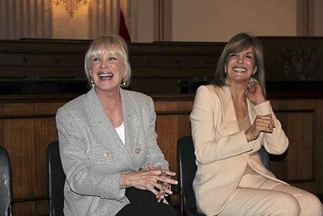 Suosikki-Lindat 1980-luvulta. Linda Grayn eli Dallasin Sue Ellenin kanssa.