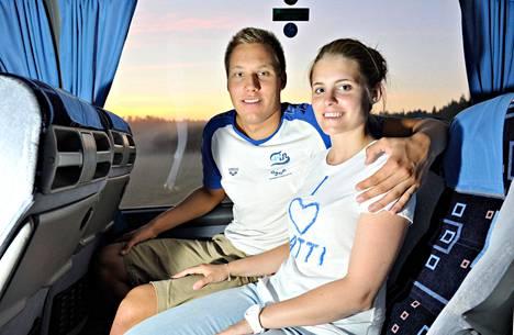Kuva vuodelta 2013, kun Mattsson oli juuri palannut Barcelonan MM-kisoista pronssimitalistina.