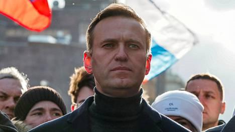 Oppositiojohtaja Aleksei Navalnyi osallistui mielenosoitukseen Moskovassa 29. helmikuuta 2020.