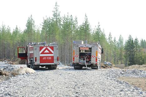 Suurimpana haasteena Kalajoen paloalueella on ollut maasto, joka on ollut vaikeakulkuista ja kivikkoista.
