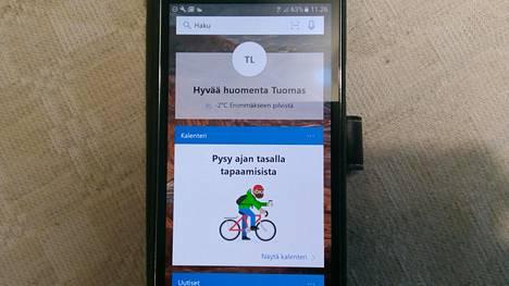 Microsoft esittää personoidun näkymän, jossa on muun muassa säätiedot, kalenteri ja uutisia.
