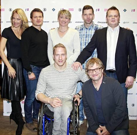 Leo-Pekka Tähti (alarivissä toinen vas.) on yksi Mertaranta ja legendat -ohjelman tähdistä.