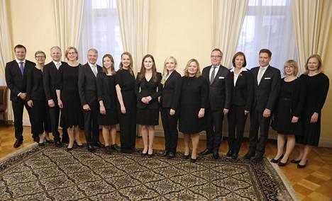 Pääministeri Sanna Marinin (sd) hallitus nimitettiin 10.12.2019.