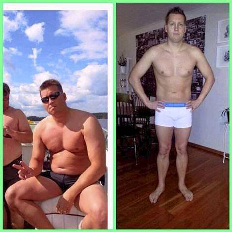 Jani Sievinen julkaisi Facebookissa maaliskuussa kuvat itsestään viime kesältä sekä maaliskuulta. Painoa oli tippunut yli 20 kiloa.