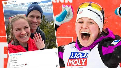 Maastohiihdon olympiavoittaja, yhdysvaltalainen Jessica Diggins on kihlannut kanadalaisen poikaystävänsä Wade Poplawskin.