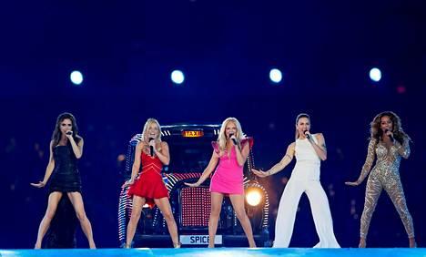Spice Girls esiintyi Lontoon olympiakisojen päättäjäisissä 2012.